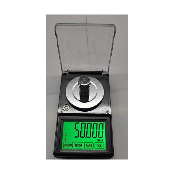 電子てんびんデジタルはかり保証付DC電源付精密天秤0.001gで50gスケール超精密はかりデジタル秤最小単位0.001gが計れる電子天秤