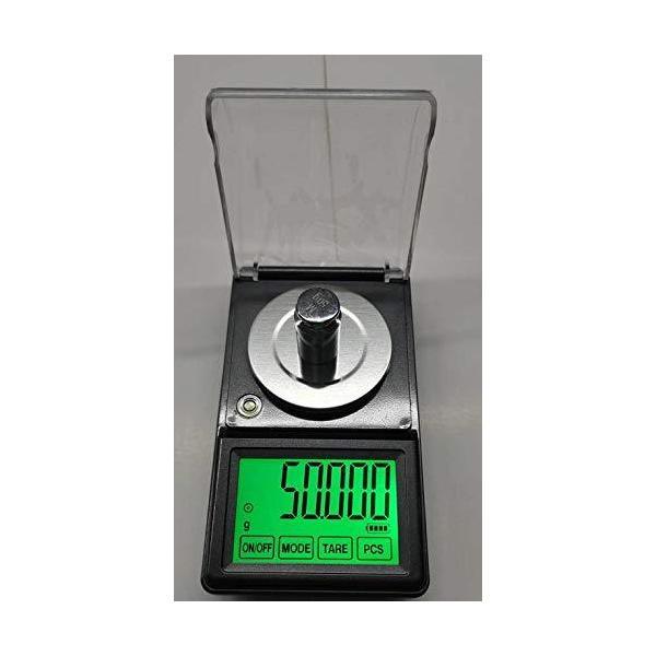 電子てんびんデジタルはかり日本語取説付精密天秤0.001gで50gスケール超精密はかりデジタル秤最小単位0.001gが計れるタッチパネルMS-500電子天秤
