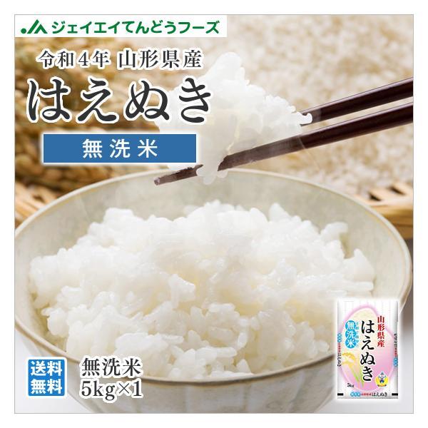 米 5kg 無洗米 はえぬき 山形県産 令和2年産 rhm0502