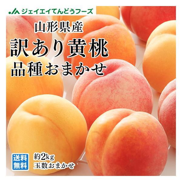 訳あり 品種おまかせ 黄桃 桃 もも 山形県産 約2kg (玉数おまかせ) わけあり 8月中旬〜出荷予定