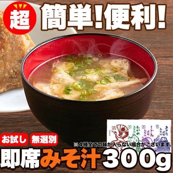 【メール便出荷】即席みそ汁 4種 約300g(約25食分) 国産 詰め合わせ 無選別 味噌汁 インスタント みそしる レトルト スープ tennenlife