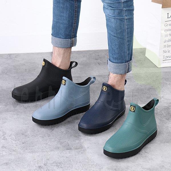 レインシューズレインブーツメンズ靴晴雨兼用長靴防水滑りにくいスニーカー雨の日梅雨防滑
