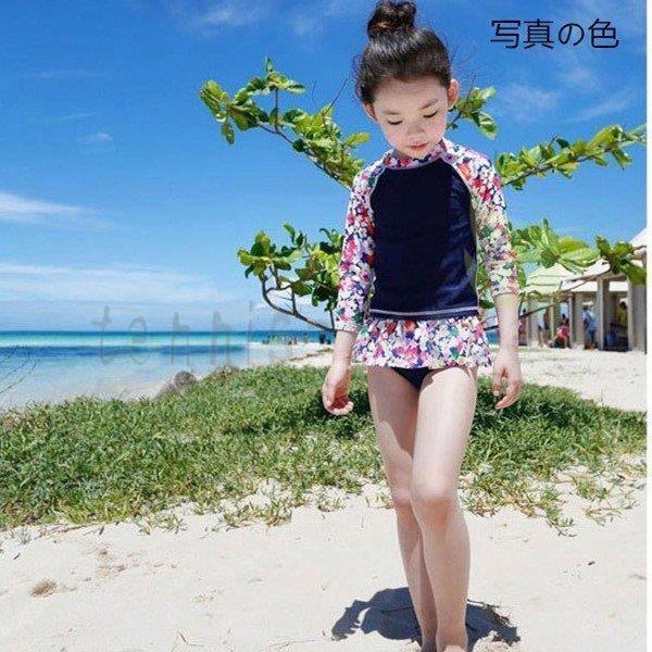 韓国子供服 女の子 水着 ワンピース セパレート キッズ 水着 女の子 ワンピース 子ども 水着 キッズ 水着 ビキニ ラッシュガード 2点セット ガールズ水着
