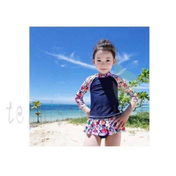 韓国子供服 女の子 水着 ワンピース セパレート 女の子 ワンピース キッズ 水着 ビキニ ラッシュガード 2点セット ガールズ 水着 水遊び 温泉 リゾート S-2XL
