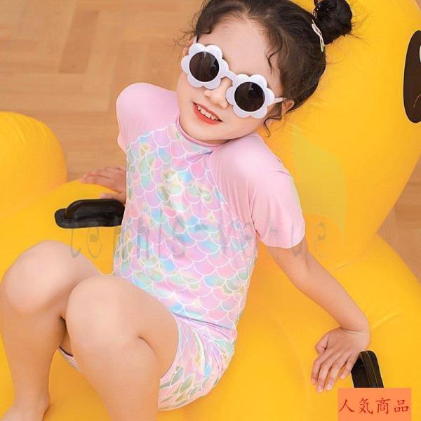 水着 韓国子供服 韓国こども服  スイミング プール キュロット  女の子 カジュアル ナチュラル キッズ セパレート ワンピース プール 海水浴 夏