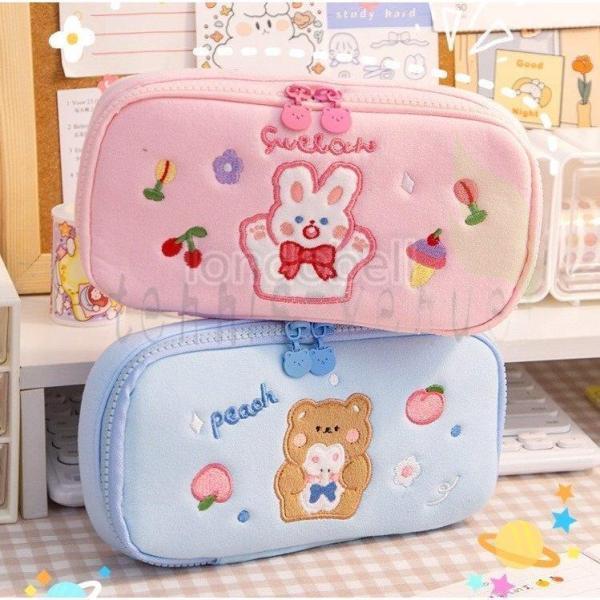 ペンケース 大容量 おしゃれ かわいい シンプル 便利 韓国 女子 人気 ペン入れ 筆箱 スタディプランナー 文房具 収納 ボックス 可愛い 入学祝い ギフト