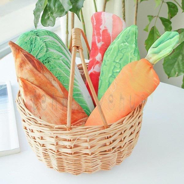 ユニーク デザイン ペンケース おもしろい かわいい ペンポーチ 野菜 ゴーヤ 白菜 にんじん お肉 生肉 タケノコ 筆箱 薄型 食べ物 おしゃれ 可愛い
