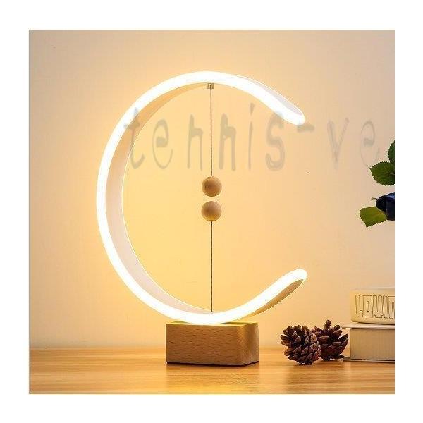 卓上ライト デスクライト LED 北欧 USB充電 ミニ 調光 円形 コンパクト テーブルランプ おしゃれ 間接照明 木 かわいい ベッドサイドランプ 和風スタンド