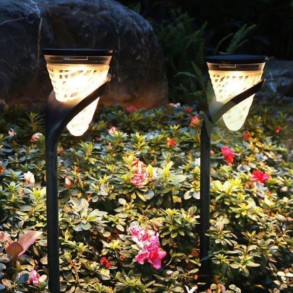 ソーラーライト 屋外 埋め込み式 防水 暖色系 LED ガーデン 夜間自動点灯 太陽光発電 常夜灯  芝生ランプ 玄関 階段 足元 駐車場 道 芝生 園芸