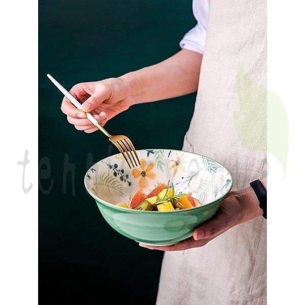 プレート お皿 来客用  プレゼント ギフト お祝い お花柄 リーフ柄 グリーン ホワイト ホームパーティー 上品 上質 モダン シック キッチン