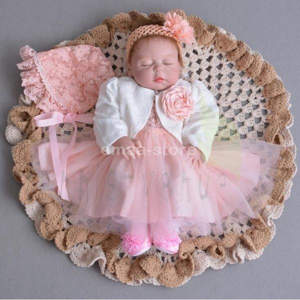 ベビードレス お宮参り 女の子 結婚式 子供服 七五三 赤ちゃん ワンピース フォーマル 子ども ドレス 3点セット