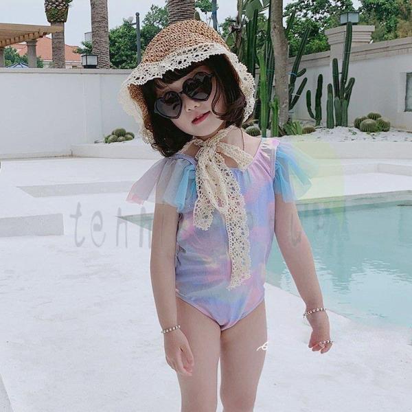 水着 女の子 80 90 100 110 120 130 140 ワンピースタイプ 可愛い 海辺 ビーチ 子供ロンパース スイムウェア UVカット 幼稚園 保育園 温泉