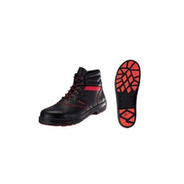 安全靴 シモンライト SL22−R 黒/赤 26cm (業務用)(送料無料)