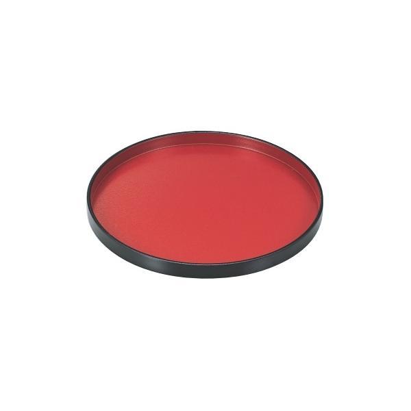 丸盆 丸盆朱天黒SL8.5寸 高さ20 直径:255/業務用/新品