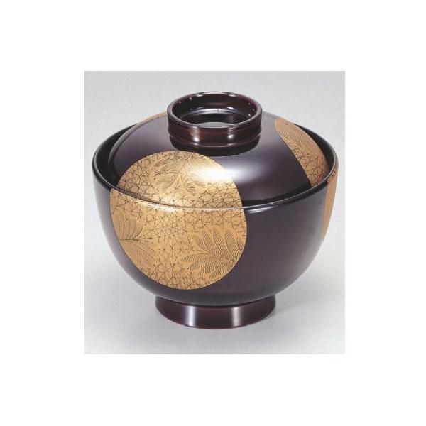 小吸椀 3.8寸仙才椀溜武蔵野日月 漆器 高さ73 直径:111/業務用/新品