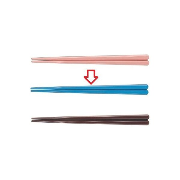 箸 19.5cm六角先端角箸スカイブルー ホタテ貝抗菌 スカイブルー 幅8 奥行7 長さ:195/業務用/新品