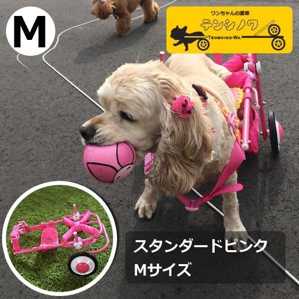 犬の車椅子 Mサイズ ピンク 介護 後脚サポート車椅子 車いす コーギー フレブル |tenshinowa1224|02