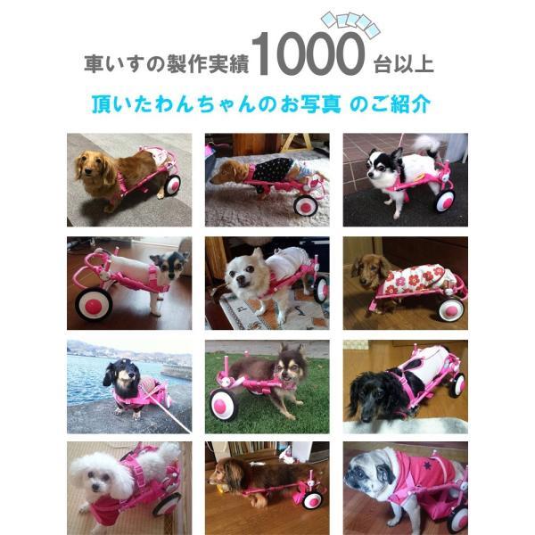 犬の車椅子 Mサイズ ピンク 介護 後脚サポート車椅子 車いす コーギー フレブル |tenshinowa1224|03