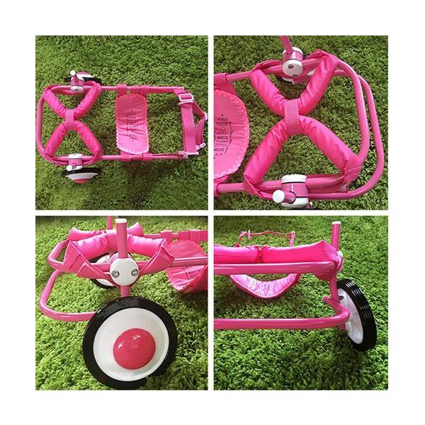 犬の車椅子 Mサイズ ピンク 介護 後脚サポート車椅子 車いす コーギー フレブル |tenshinowa1224|06