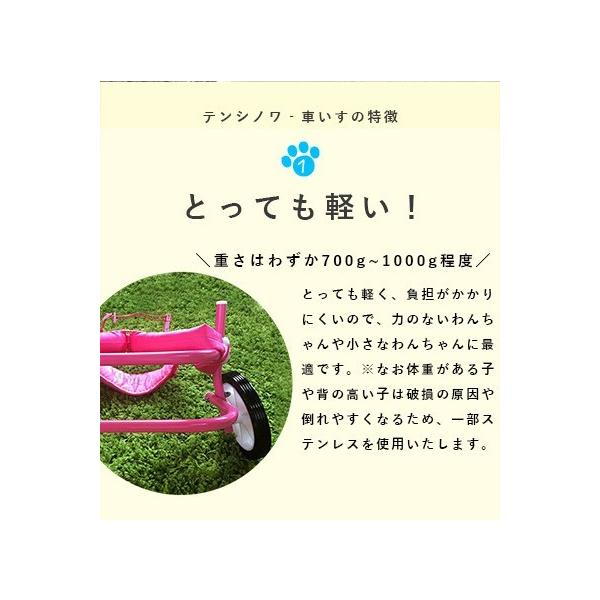 犬の車椅子 Mサイズ ピンク 介護 後脚サポート車椅子 車いす コーギー フレブル |tenshinowa1224|09