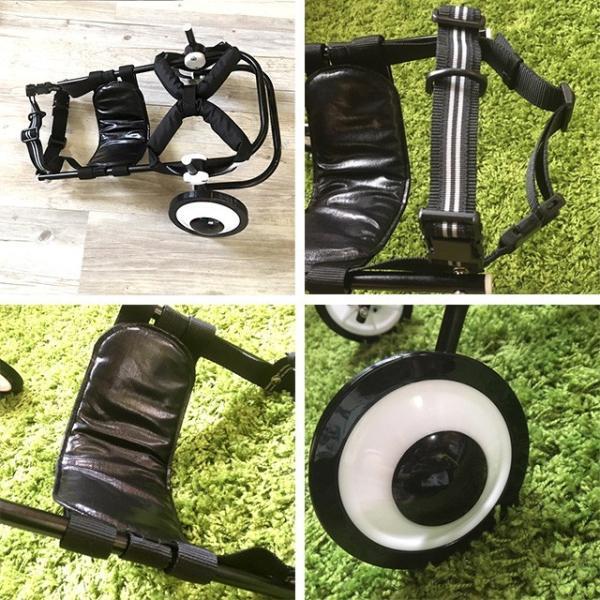 犬の車椅子 Sサイズ ブラック 介護 後脚サポート車椅子 車いす black tenshinowa1224 04