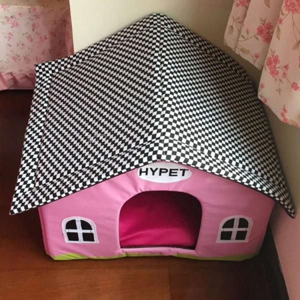 送料無料 屋根のマイホームベッド クッション ハウス ドーム ペットベット ボンビアルコン おっきなお庭つきハウス 犬のベッド 猫のベッド|tentenya|04
