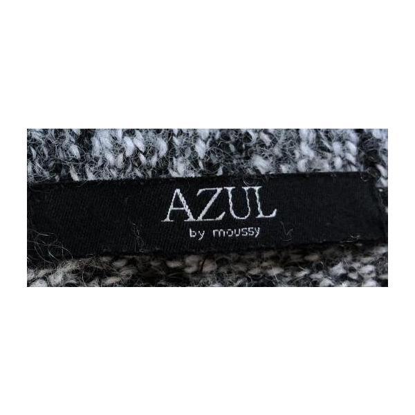 AZUL アズール 前上がり長袖ニットグレー霜降りF|tentoumusi-recycle|03