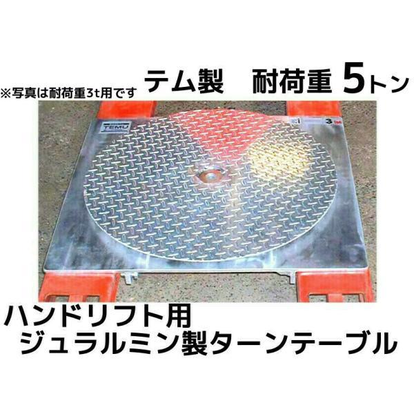 ハンドリフト用 ジュラルミン製ターンテーブル 耐荷重5t(トン) turntable「別途送料ご連絡」「キャンセル/変更/返品不可」