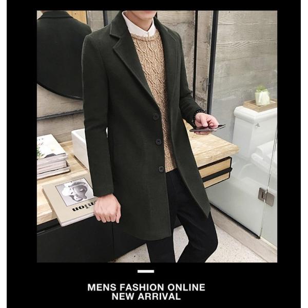 冬コート メンズ チェスターコート ロングコート テーラードジャケット 厚手 暖 高品質 アウター ビジネス 細身 ロング丈 通勤 あたたか tenze 05