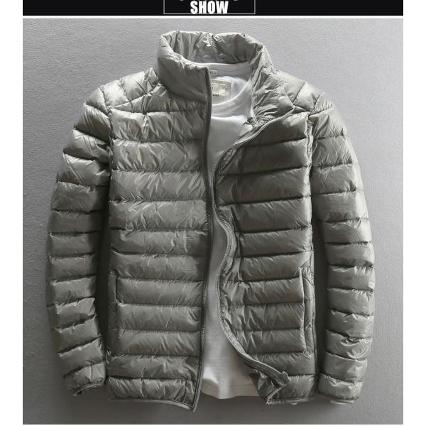 ダウンジャケット メンズ 軽めアウター ライトダウン 軽量 防寒 薄手 あったか 暖 ジャケット 大きいサイズ あたたか 2018 春セール|tenze|02