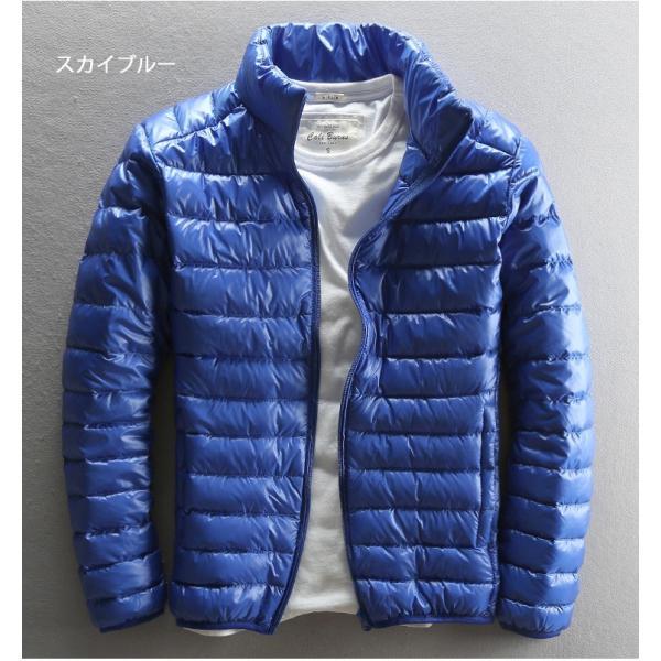 ダウンジャケット メンズ 軽めアウター ライトダウン 軽量 防寒 薄手 あったか 暖 ジャケット 大きいサイズ あたたか 2018 春セール|tenze|05
