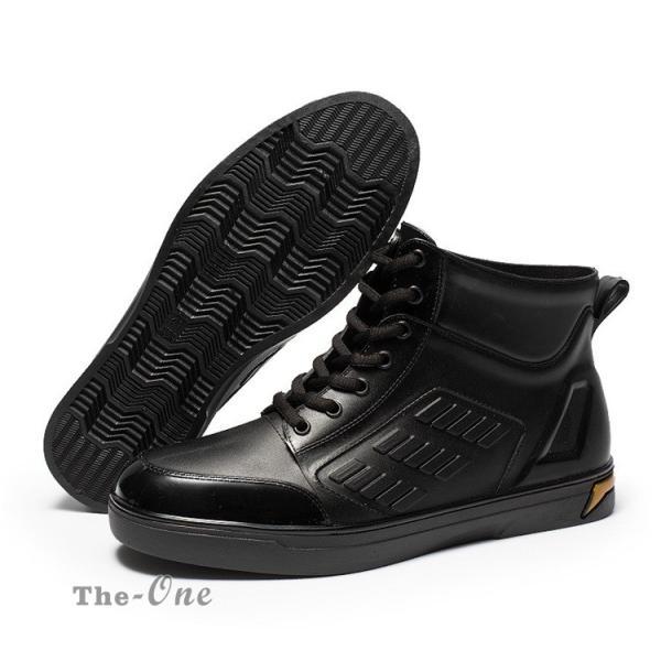 レインシューズ メンズ 雨靴 レインブーツ ショート 防水靴 ショートブーツ ハイカット 靴 防水 おしゃれ 梅雨|tenze|11
