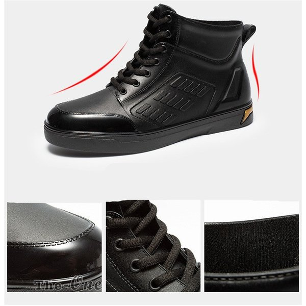 レインシューズ メンズ 雨靴 レインブーツ ショート 防水靴 ショートブーツ ハイカット 靴 防水 おしゃれ 梅雨|tenze|12