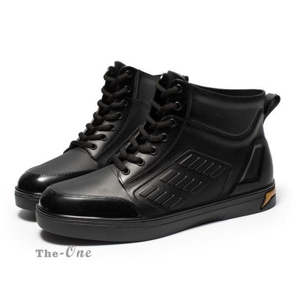レインシューズ メンズ 雨靴 レインブーツ ショート 防水靴 ショートブーツ ハイカット 靴 防水 おしゃれ 梅雨|tenze|13