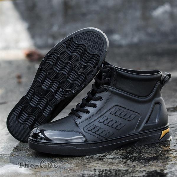 レインシューズ メンズ 雨靴 レインブーツ ショート 防水靴 ショートブーツ ハイカット 靴 防水 おしゃれ 梅雨|tenze|10