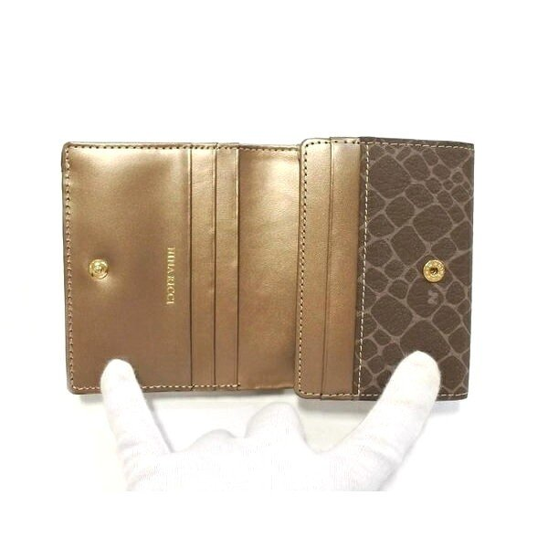 NINA RICCI ニナリッチ  財布 二つ折り ボックス小銭入れ  レディース 新品 ブロンズ box ギャルソン 四角|teradium-bag|04