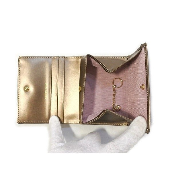 NINA RICCI ニナリッチ  財布 二つ折り ボックス小銭入れ  レディース 新品 ブロンズ box ギャルソン 四角|teradium-bag|05