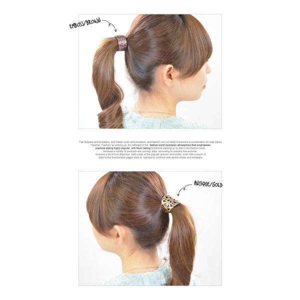ヘアリング ヘアカフス ヘアゴム ヘアポニー レディースヘアアクセサリー 髪留め 髪飾り