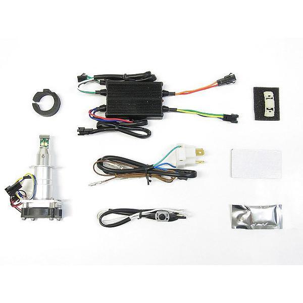 プロテック CBF600S / CBR600RR / YZF-R25 / Ninja1000 / Ninja650等用 LEDヘッドライトバルブキット LB7W-H3 H7 Hi/Lo 3000K ※Hiビーム側専用 65046|terranet