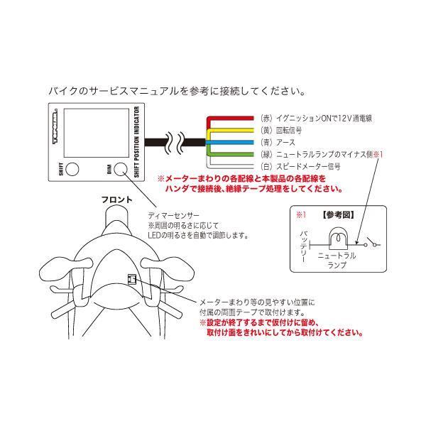 即納 プロテック SPI-110 バイク用 シフトポジションインジケーター(シフトインジケーター) 11014 ※汎用タイプ terranet 02