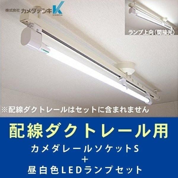 KRS-1A-WH-SET-N カメダレールソケットS 昼白色LEDランプセット  配線ダクト用LEDベースライト1灯タイプ  あすつく カメダデンキ terukuni