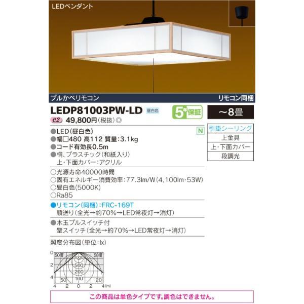 ペンダントライト白香しらか和風コード吊ペンダント[LED昼白色][〜8畳]LEDP81003PW-LD|terukuni