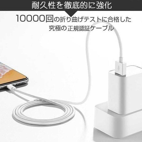 Apple純正ケーブル iPhone 充電ケーブル 0.5m 1m 1.5m 2m 3m アップル公式 MFI認証済 Foxconn製 ライトニングケーブル teruyukimall 06