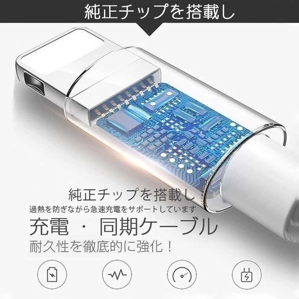 Apple純正ケーブル iPhone 充電ケーブル 0.5m 1m 1.5m 2m 3m アップル公式 MFI認証済 Foxconn製 ライトニングケーブル teruyukimall 07
