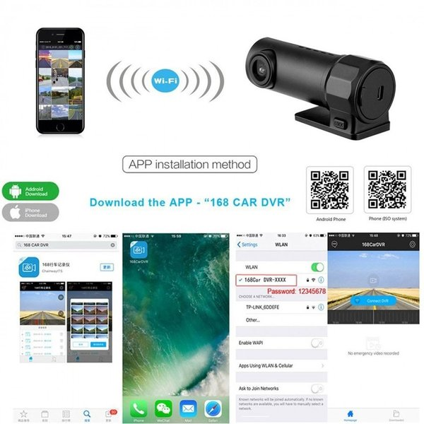 AGM ドライブレコーダー WIFI ドラレコ Gセンサー内蔵 駐車監視 スマホ連動ドラレコ 音声録音 サイクル録画 ループ録画 170度広角 360度 小型軽量|teruyukimall|16