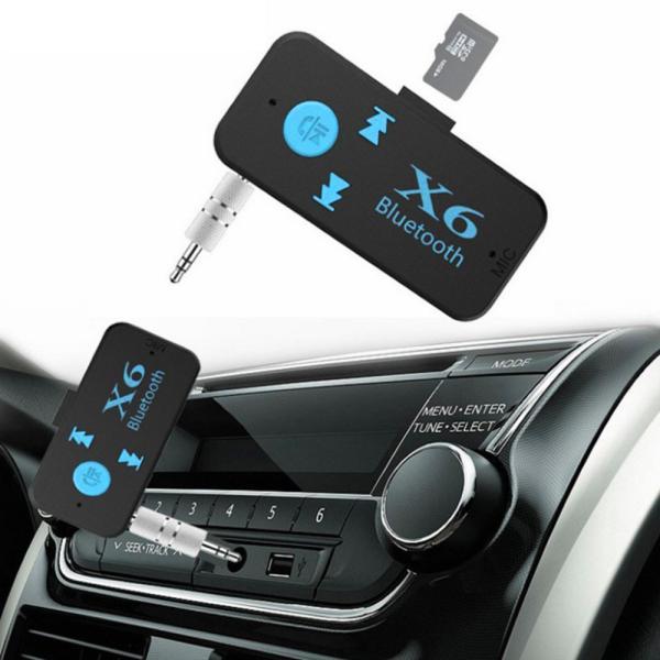 Bluetooth レシーバー 車載 オーディオ 音楽プレーヤー ハンズフリー 通話 3.5mm USB iPhone Android スマートフォン対応 TFカード対応可能|teruyukimall|04
