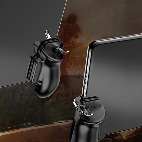 荒野行動 PUBG mobile コントローラ タブレット スマホ ゲームパッド 位置調整可能 一体式 指サック ゲームコントローラー 押し式 射撃ボタン|teruyukimall|12