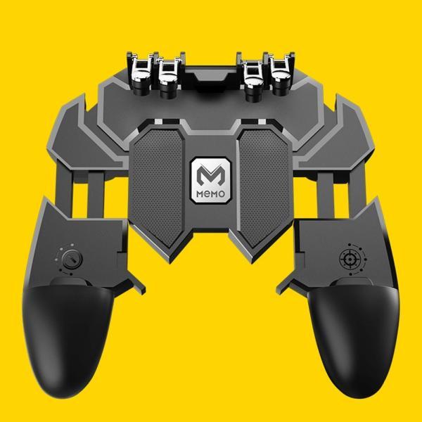 PUBG Mobile 荒野行動 コントローラー ゲームパット 6本指操作可能 押しボタン&グリップの一体式 高感度射撃ボタン|teruyukimall|12