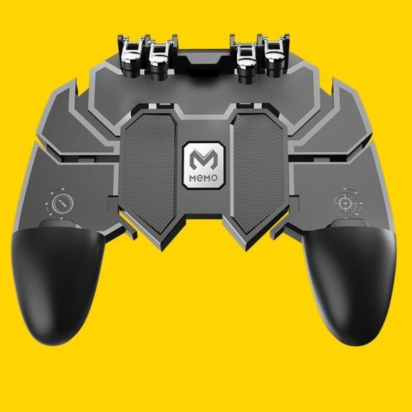 PUBG Mobile 荒野行動 コントローラー ゲームパット 6本指操作可能 押しボタン&グリップの一体式 高感度射撃ボタン|teruyukimall|13