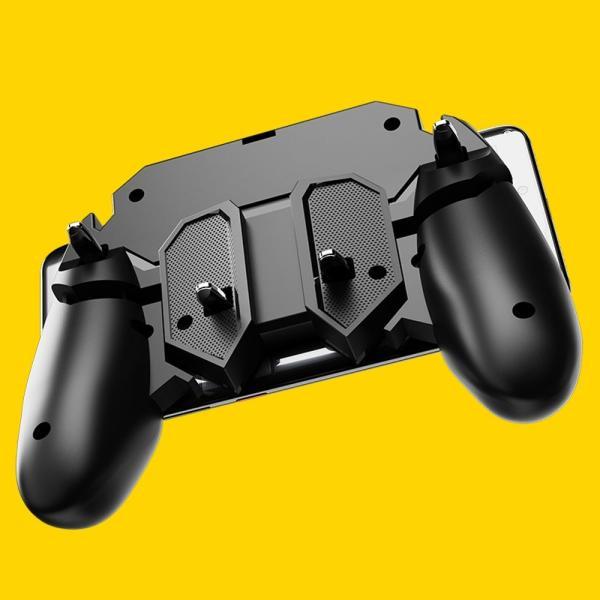 PUBG Mobile 荒野行動 コントローラー ゲームパット 6本指操作可能 押しボタン&グリップの一体式 高感度射撃ボタン|teruyukimall|14